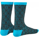 Supacaz Socken Asanoha, Gr. L/XL black and neon blue